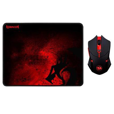Mouse Gaming Redragon + Pad M601 WL-BA