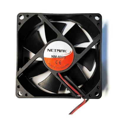Cooler 8cm para fuente y gabiente Negro