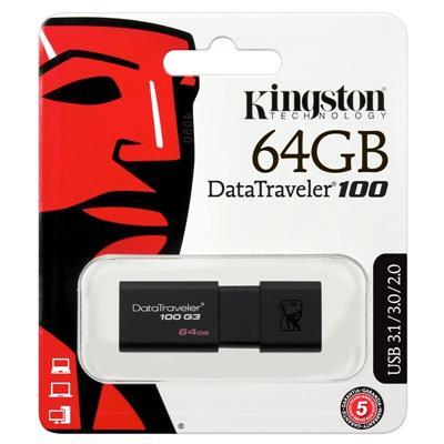 Pendrive 64Gb Kingston USB 3.0 DT100 G3
